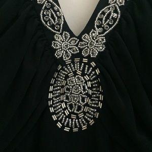 Spense Dresses - Black halter dress with beaded neckline, size 10